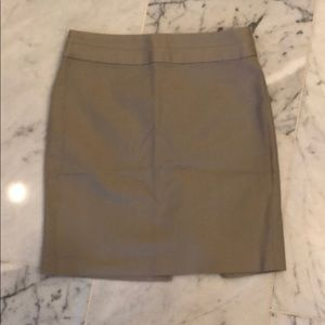 PETITE Banana republic tan pencil skirt